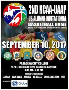 2017 NCAA UAAP Alumni Invitational Basketball Games @ Pasadena City College Gym | Pasadena | California | United States