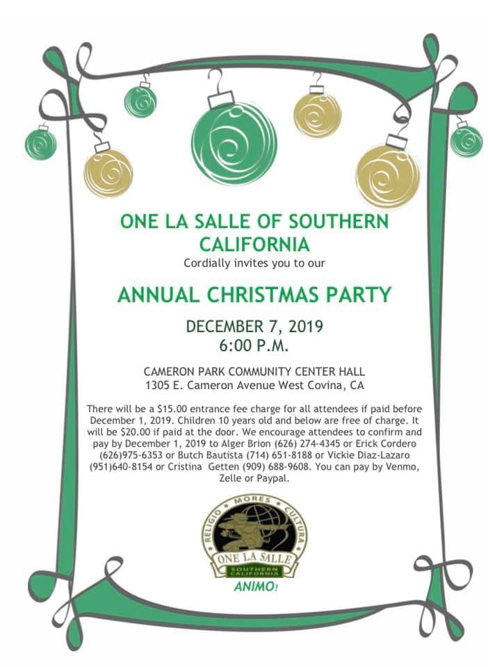2019 Christmas Party @ Cameron Park Hall